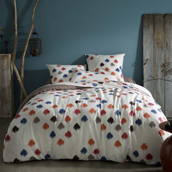 housse de couette 100 coton 57 fils oliver 220x240 pas cher. Black Bedroom Furniture Sets. Home Design Ideas