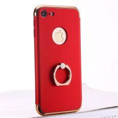 Coque ultra-fine rouge avec anneau pour iPhone 6S/6