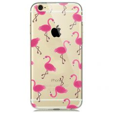 Coque transparente à motif flamingo pour iPhone 7
