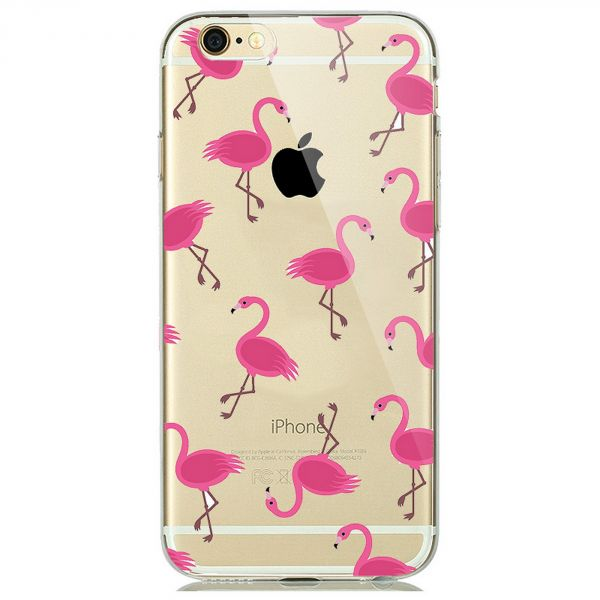 Coque transparente à motif flamingo pour iPhone 8/7