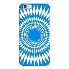 Coque à motif psychedelique bleu pour iPhone 6S/6