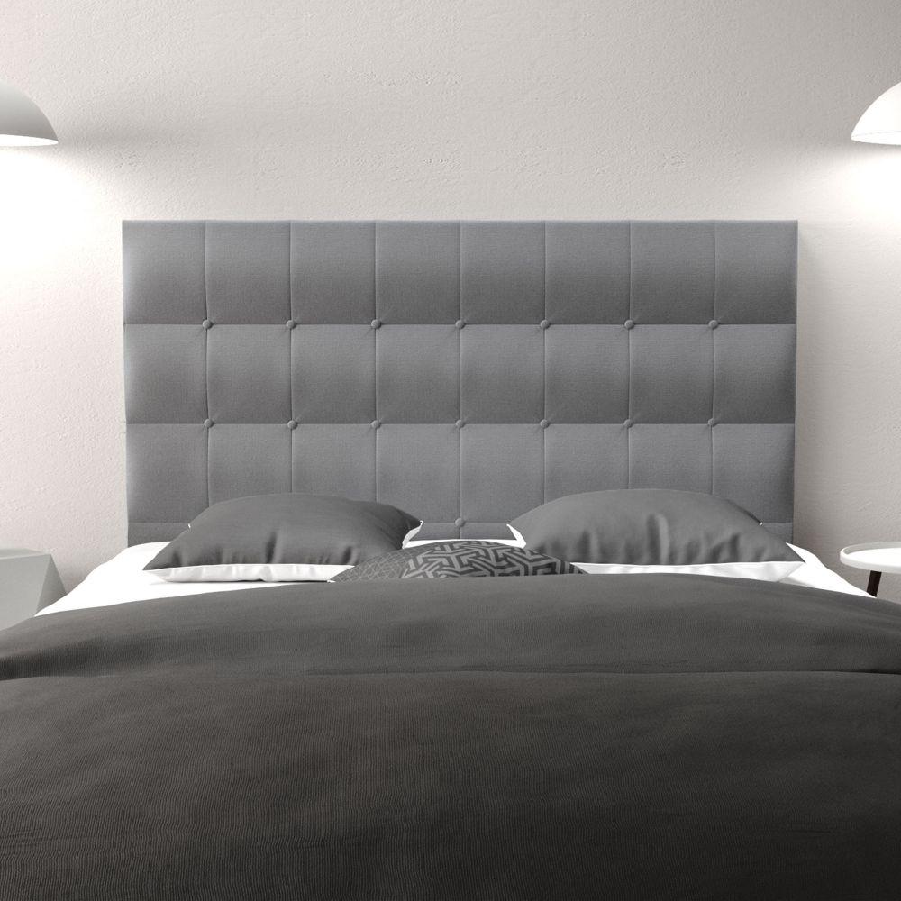 Tete De Lit Voile tête de lit 160 cosyra tissu bois 160x118x8 pas cher