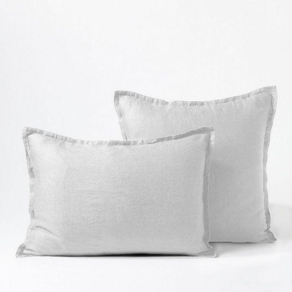 Taie d'oreiller Percale de Coton 80 fils Neige