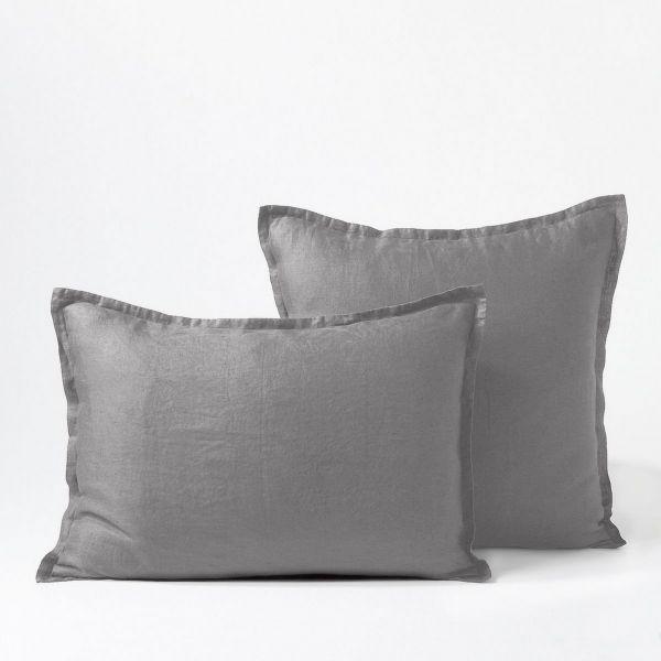 Taie d'oreiller Percale de Coton 80 fils Craie