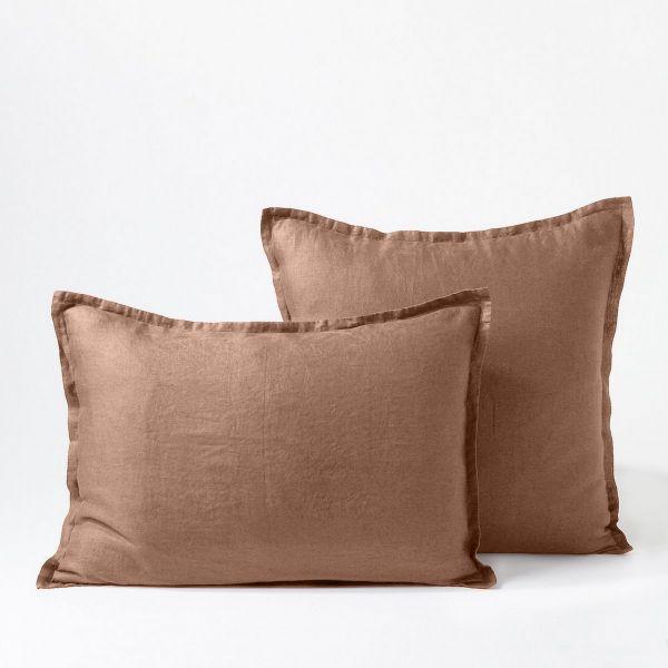 Taie d'oreiller Percale de Coton 80 fils Rose Poudre