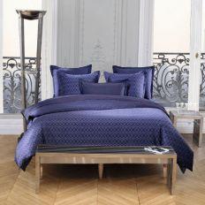 Housse de couette Percale de Coton Vagues Bleues et taie d'oreiller