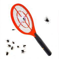 Raquette électrique anti-moustiques et anti-mouches