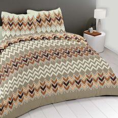 Parure de couette 220x240 cm 100% Coton 57 fils Zigzag