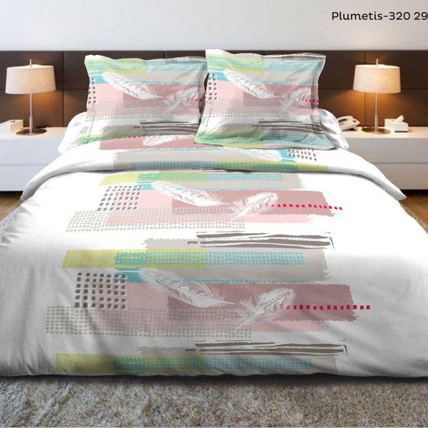 Parure de couette 240x260 cm 100% Coton 57 fils Plumetis