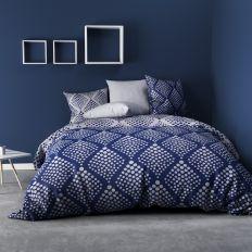 Parure de drap 240x300 cm 100% Coton 57 fils Fibula Bleu