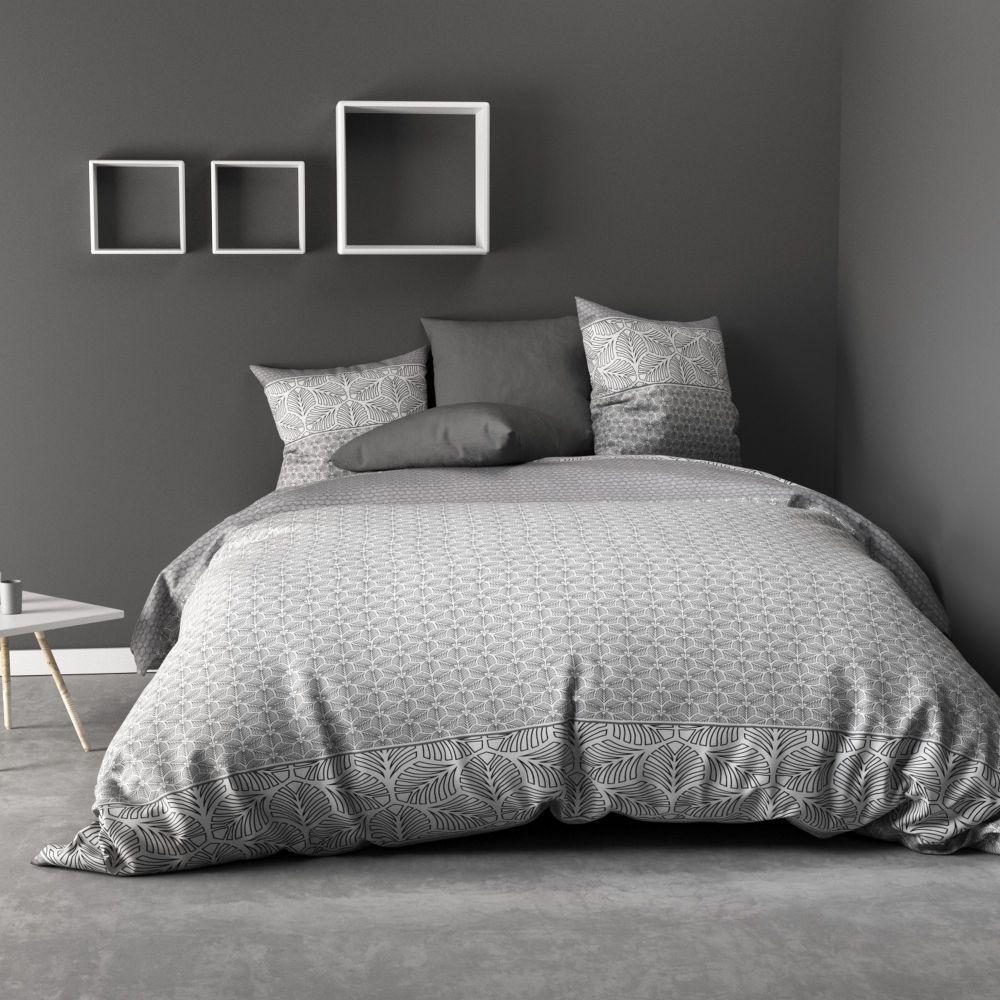 Parure de lit - Housse de couette 100% Coton 57 fils Black Solaris : Taille - 240 x 260 cm. Housse de couette - Parure de couette Coton Black Solaris
