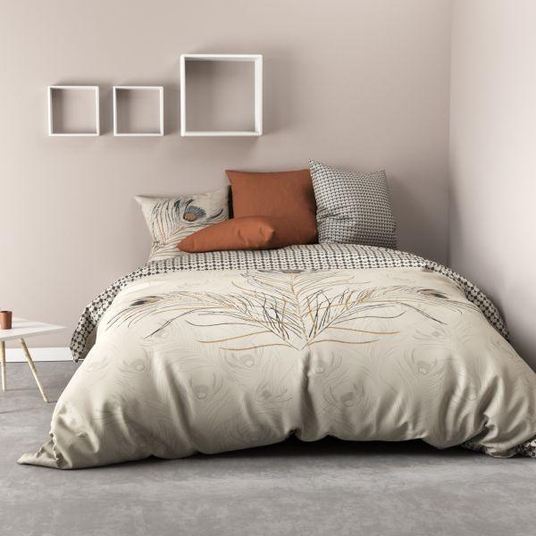 Parure de lit - Housse de couette 100% Coton 57 fils Fazya