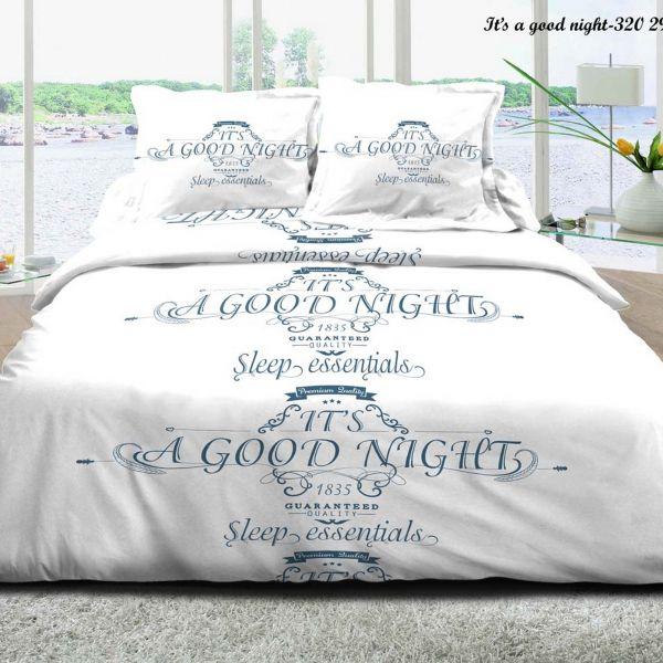 Parure de lit - Housse de couette 100% Coton 57 fils Good Night