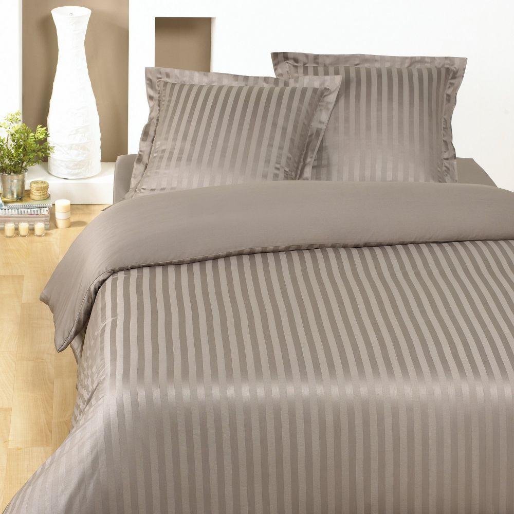 Parure de lit - Housse de couette 100% Satin de Coton Johanna Etherea : Taille - 240 x 260 cm