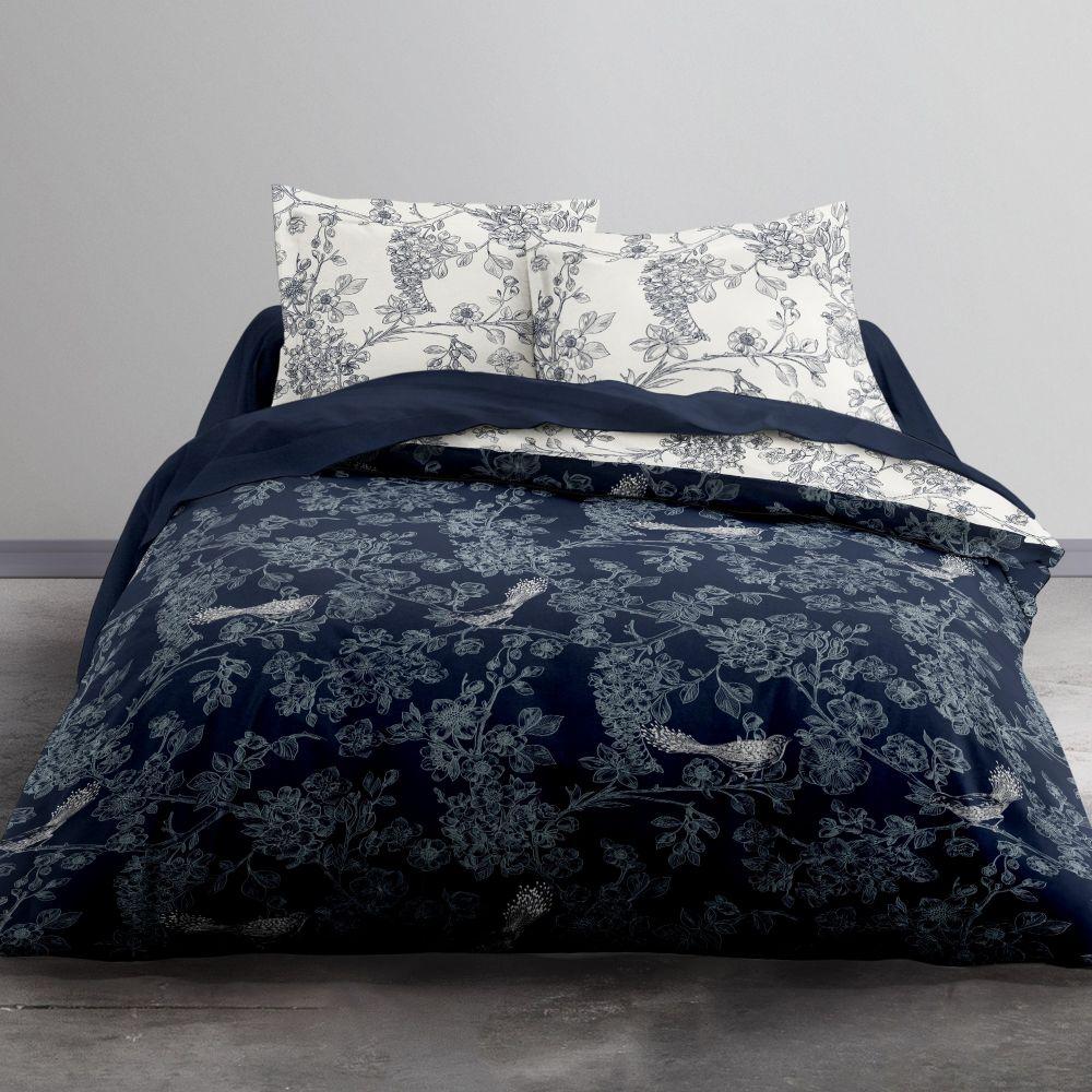 Parure de lit - Housse de couette 100% Coton 57 fils 2.45 : Taille - 240 x 260 cm