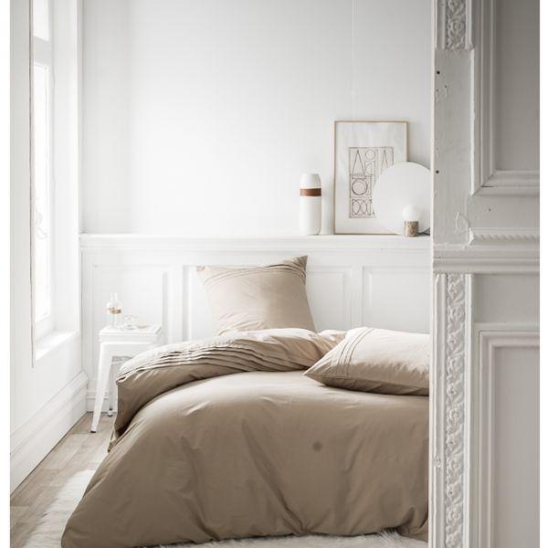 Parure de lit - Housse de couette 100% Percale de Coton Mastic