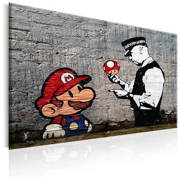 Tableau Mario and Cop by Banksy
