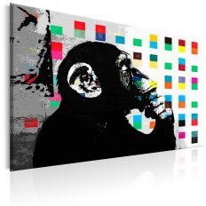 Tableau Banksy The Thinker Monkey