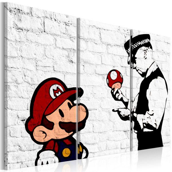 Tableau Mario Bros Banksy