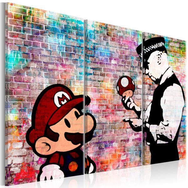 Tableau Rainbow Brick Banksy
