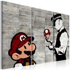 Tableau Banksy Mario Bros