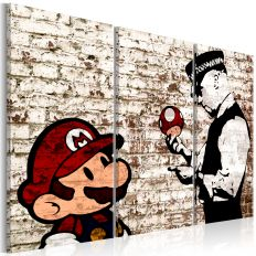 Tableau Mario Bros Torn Wall