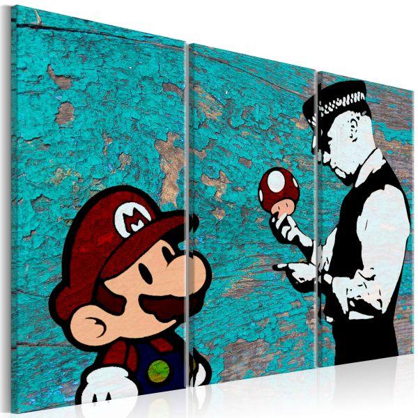 Tableau Banksy Cracked Paint