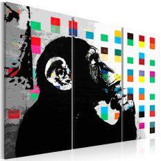 Tableau The Thinker Monkey by Banksy