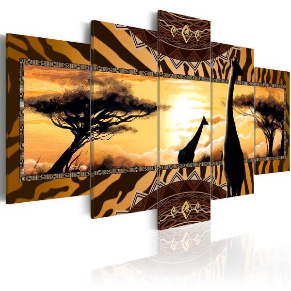 Tableau African giraffes
