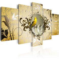 Tableau Yellow bird singing