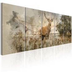 Tableau Watercolour Deer I