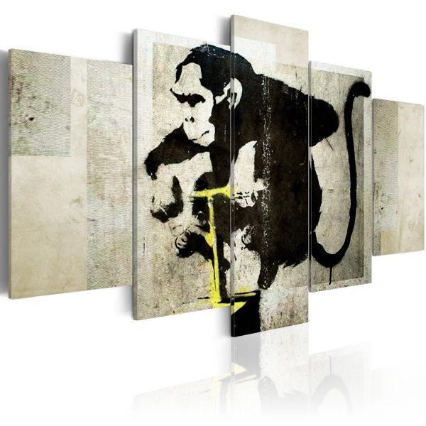 Tableau Monkey TNT Detonator Banksy