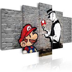 Tableau Super Mario Mushroom Cop Banksy