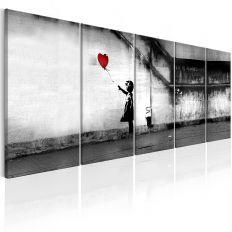 Tableau Banksy Runaway Balloon