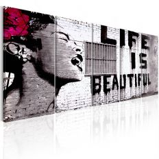 Tableau Banksy Life is Beautiful