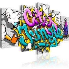 Tableau Graffiti city jungle