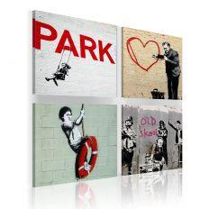 Tableau Banksy - Inspiration urbaines
