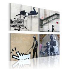 Tableau Banksy - quatre idées créatives