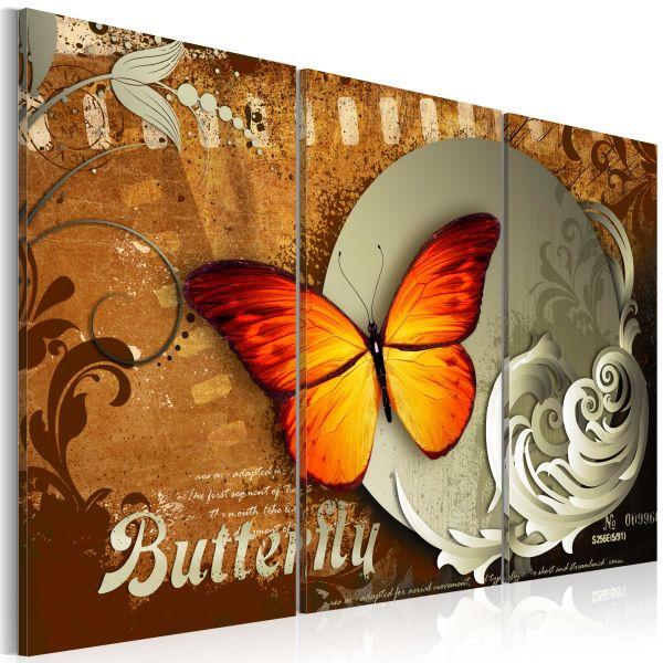 Tableau Fiery butterfly and full moon