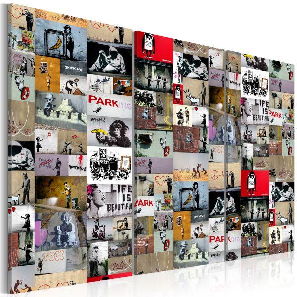 Tableau Art of Collage Banksy III