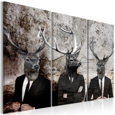 Tableau Deer in Suits I