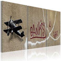 Tableau Avion Banksy