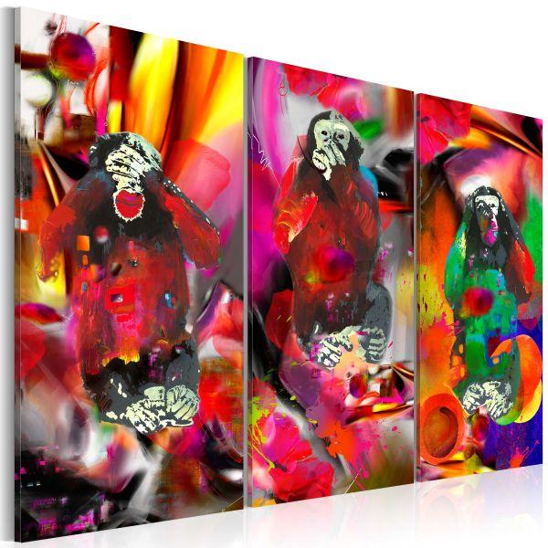 Tableau Crazy Monkeys - triptych