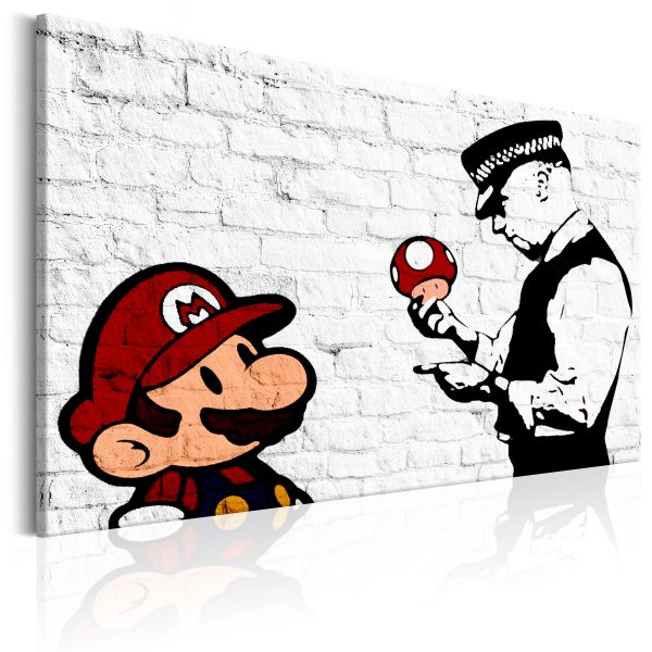 Tableau Banksy on Brick