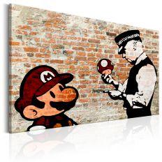 Tableau Banksy Police Caution