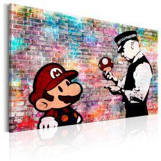 Tableau Banksy Colourful Brick