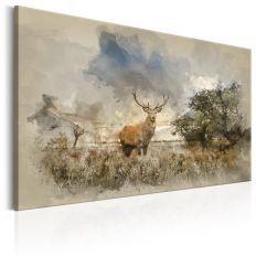 Tableau Deer in Field