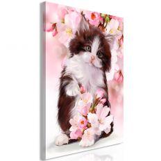 Tableau Sweet Kitty 1 Pièce Vertical