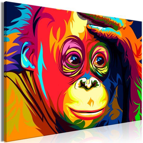 Tableau Colourful Orangutan 1 Pièce Wide