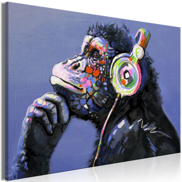 Tableau Musical Monkey 1 Pièce Wide